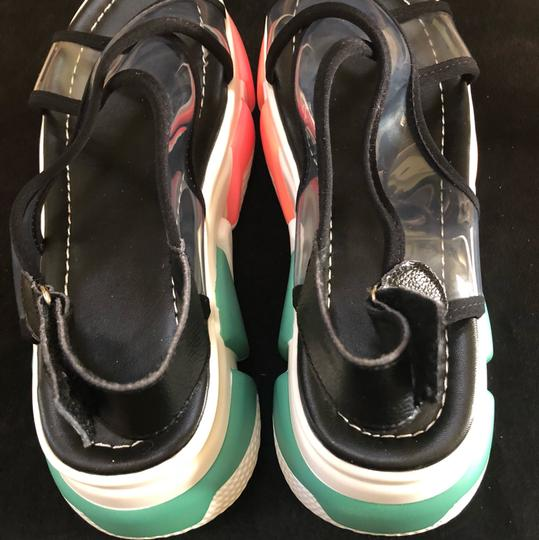 Knowlesandcompany black and transparent top with multi color sole. Sandals Image 3