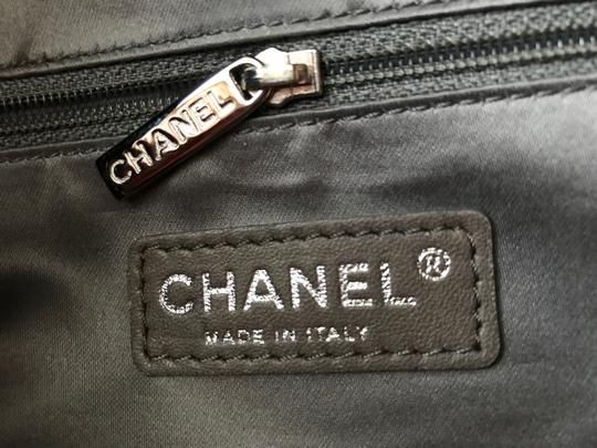 Chanel Gst Grand Shopping Classic Flap Tweed Double Stitch Tote in Black Image 8