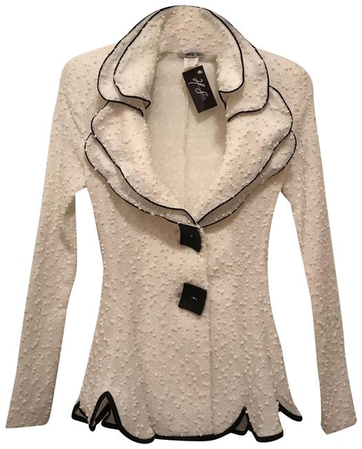 Design Today's Jacket Comfortable Stretchy Boutique White Black Blazer Image 0