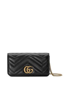 4c82ce9553c2 Added to Shopping Bag. Gucci Cross Body Bag. Gucci Marmont New 2.0 Mini  Flap Black Leather ...