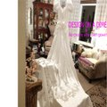 Mori Lee White Satin Design On A Dime ~ Lots Beaded Lace & Other Vintage Wedding Dress Size 6 (S) Image 0