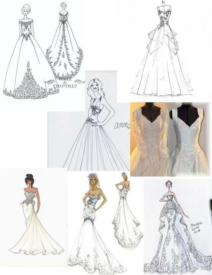 Mori Lee White Satin Design On A Dime ~ Lots Beaded Lace & Other Vintage Wedding Dress Size 6 (S) Image 9