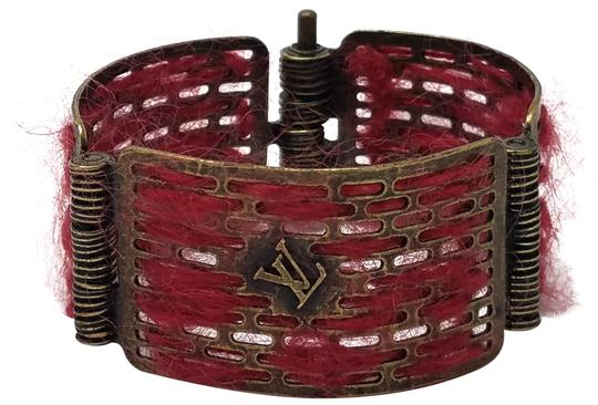 Preload https://img-static.tradesy.com/item/23442736/louis-vuitton-red-gold-antique-goldtone-tribal-hinge-cuff-bracelet-0-1-540-540.jpg