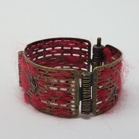 Louis Vuitton Louis Vuitton Antique Goldtone Tribal Hinge Cuff Bracelet Image 2