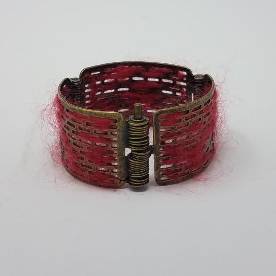 Louis Vuitton Louis Vuitton Antique Goldtone Tribal Hinge Cuff Bracelet Image 4