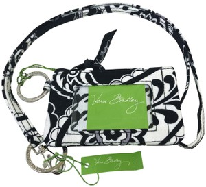 Vera Bradley ID zip coin case and lanyard in Midnight Paisley