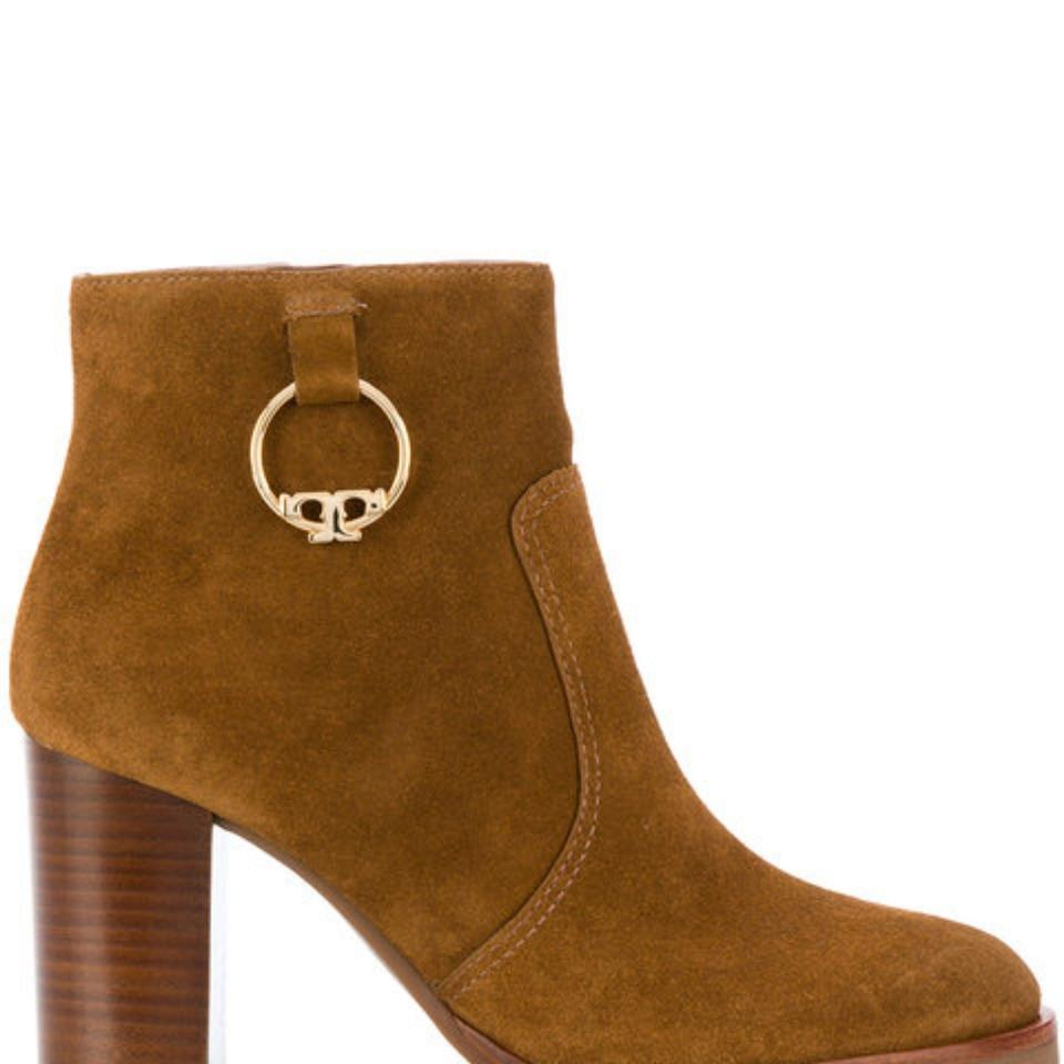 20ba78ed9eb7d3 Tory Burch Marrone Sofia Ankle Boots Booties Size US 9 Regular (M