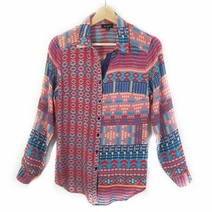 Tolani Festival Silk Tribal Western Hippie Top Red