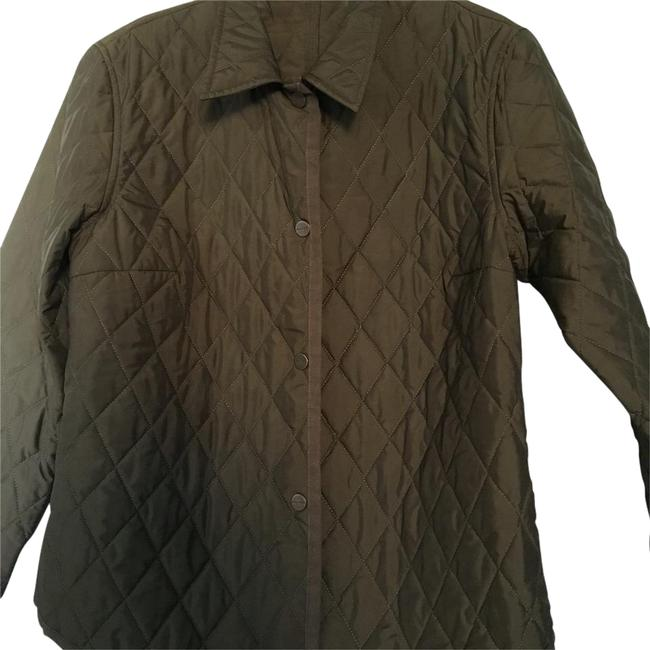 Item - Olive Green Quilted Jacket Size 10 (M)