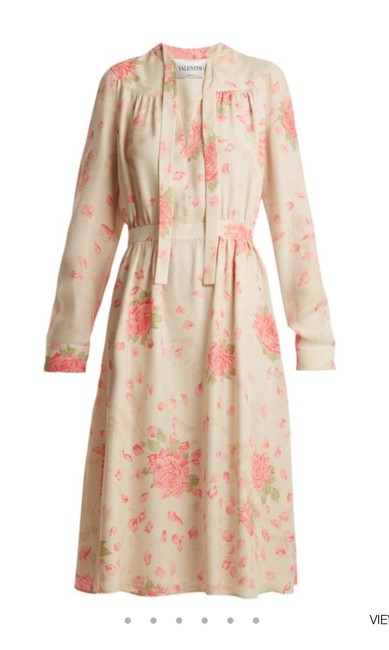 silk georgette dress with rose-print Maxi Dress by Valentino Spring/Summer 2018 Ankle-length Image 1