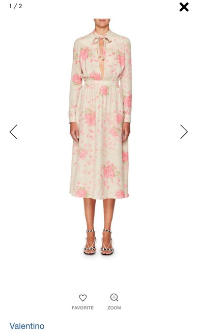 silk georgette dress with rose-print Maxi Dress by Valentino Spring/Summer 2018 Ankle-length Image 2