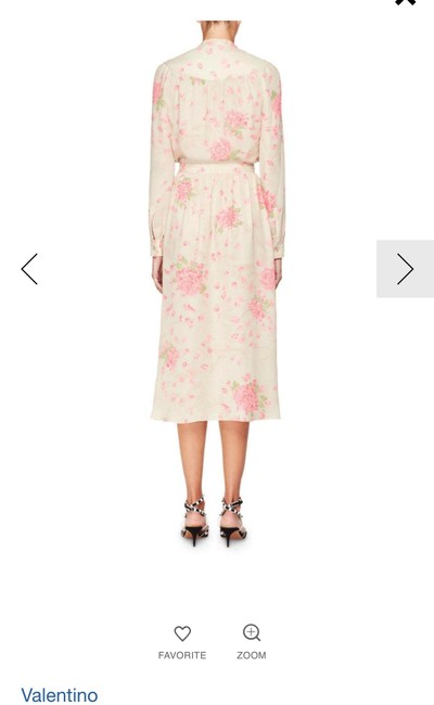 silk georgette dress with rose-print Maxi Dress by Valentino Spring/Summer 2018 Ankle-length Image 3