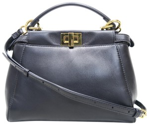 Fendi Mini Peekaboo Satchel in black