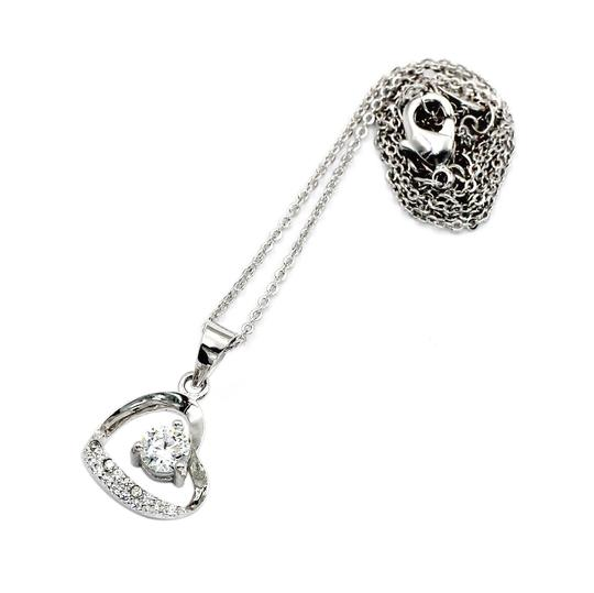 Ocean Fashion Single drill love heart sterling silver necklace Image 2