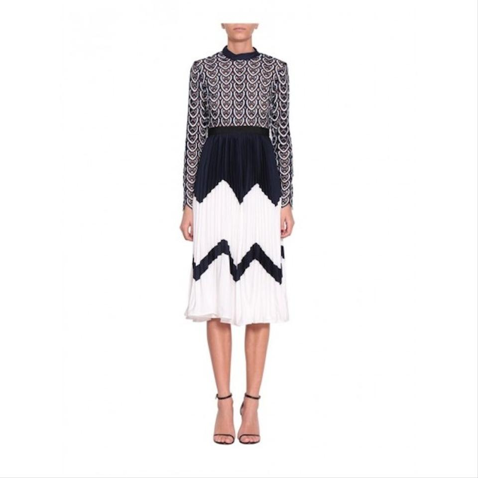 91e87b319a4e self-portrait New with Tags Sweetheart Crochet Pleated Midi Cocktail ...