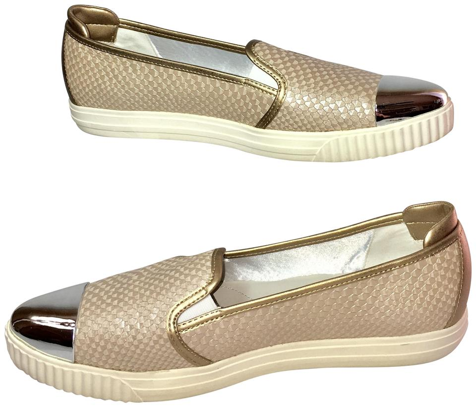 f5ebce20781ea Geox Gold Leather Silver Toe Women s Oxfords With Flats Size US 10.5 ...