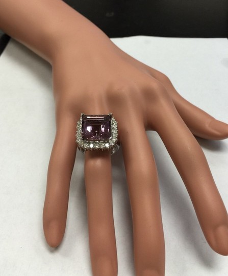 Other 13.45 Carats Natural Ametrine and Diamond 14K Solid White Gold Ring Image 10