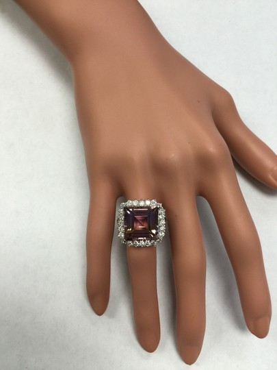 Other 13.45 Carats Natural Ametrine and Diamond 14K Solid White Gold Ring Image 11