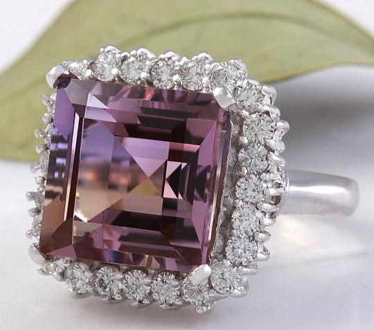 Other 13.45 Carats Natural Ametrine and Diamond 14K Solid White Gold Ring Image 2