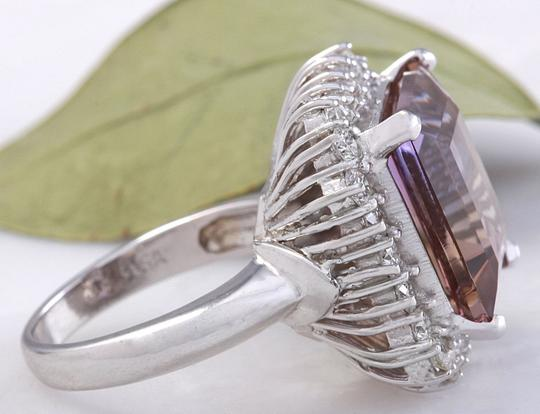 Other 13.45 Carats Natural Ametrine and Diamond 14K Solid White Gold Ring Image 3