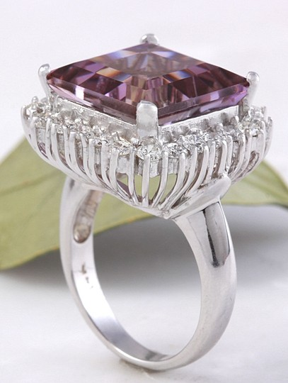 Other 13.45 Carats Natural Ametrine and Diamond 14K Solid White Gold Ring Image 6