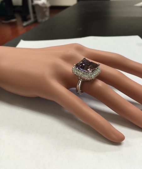Other 13.45 Carats Natural Ametrine and Diamond 14K Solid White Gold Ring Image 9