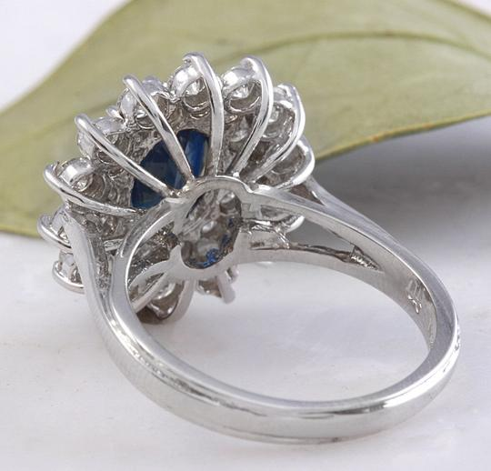 Other 2.70Ct Natural Blue Sapphire & Diamond 14K Solid White Gold Ring Image 3