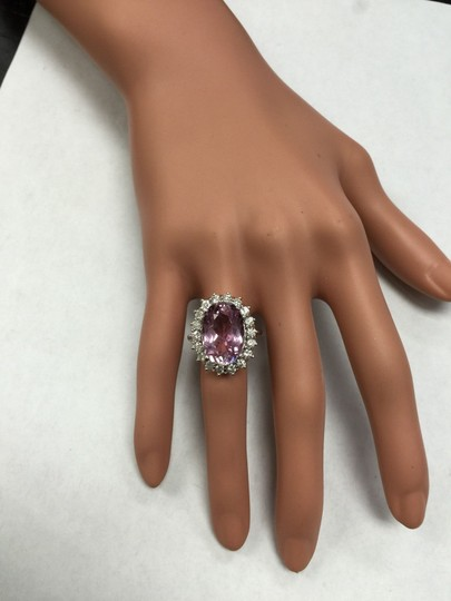 Other 12.02 Carat Natural Pink Kunzite and Diamond 14K Solid White Gold Ring Image 10