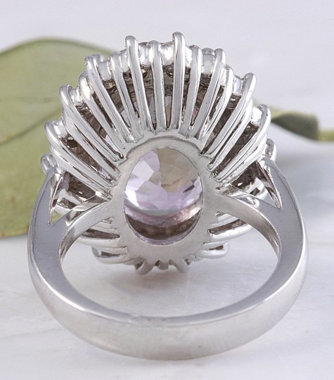 Other 12.02 Carat Natural Pink Kunzite and Diamond 14K Solid White Gold Ring Image 5