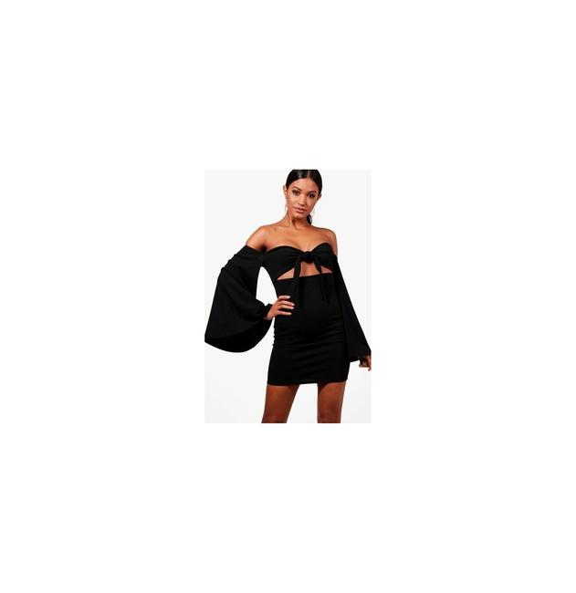 Preload https://img-static.tradesy.com/item/23443939/black-boutique-claire-flared-sleeve-bodycon-nw-short-night-out-dress-size-6-s-0-0-650-650.jpg