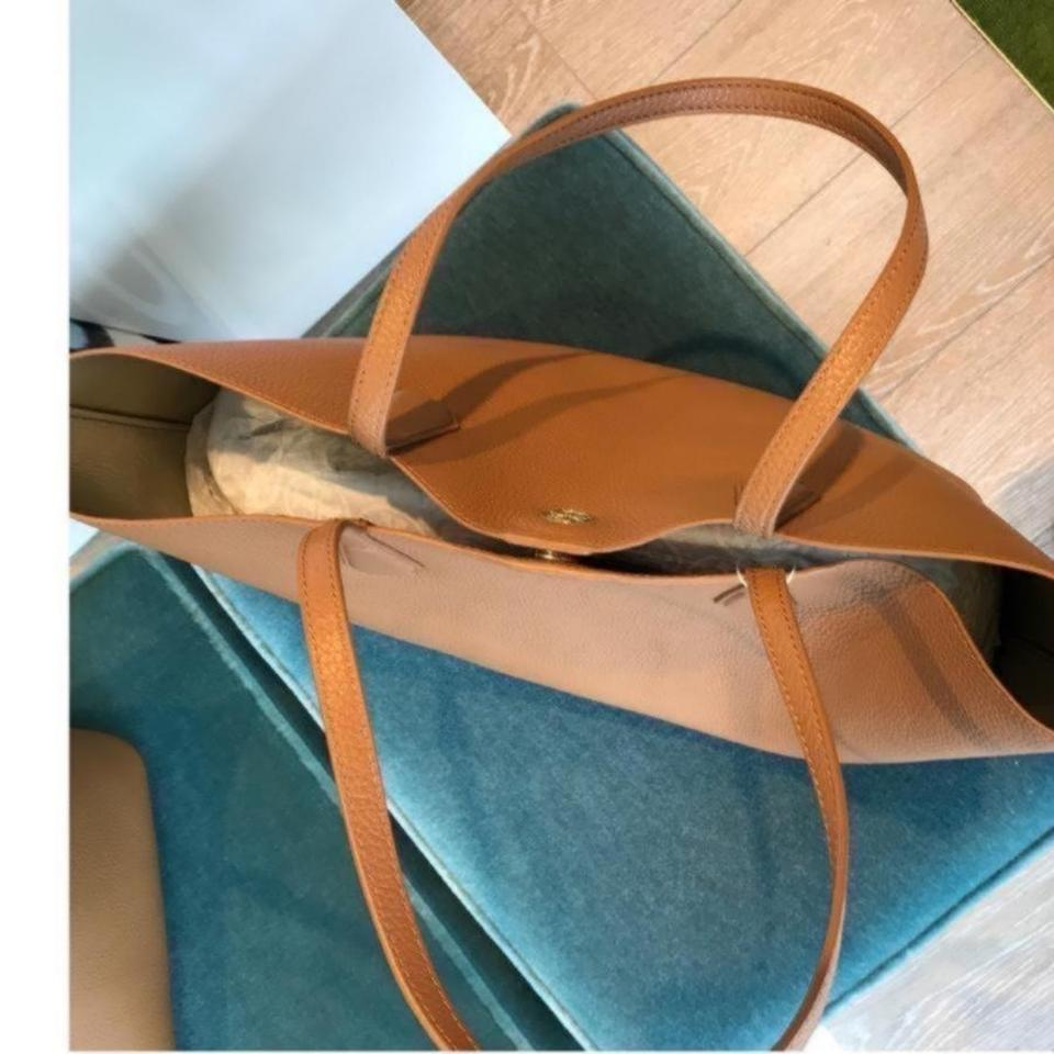 Burch Leather Perry Tote Tory Bark gO0wnqaq
