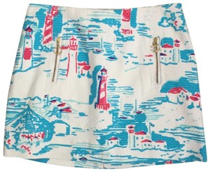 Lilly Pulitzer Mini Skirt Watch Out Lighthouse