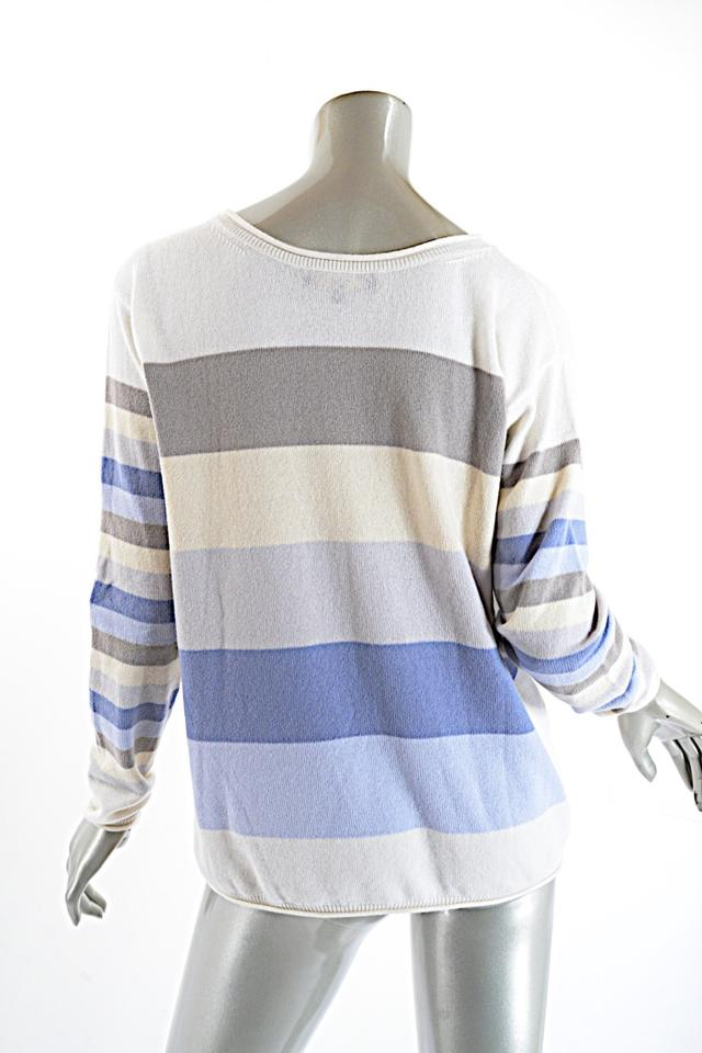 d0d51c1a4 Loro Piana  baby Cashmere  Ivory Taupe Cashmere Striped Beige Blue ...
