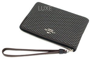 Coach F13311 191202042469 Wristlet in LIGHT GOLD/GREY/BLACK