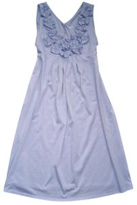 Garnet Hill short dress Bluish Lavender Jersey Knit Rosette Day Sundress Sleeveless on Tradesy