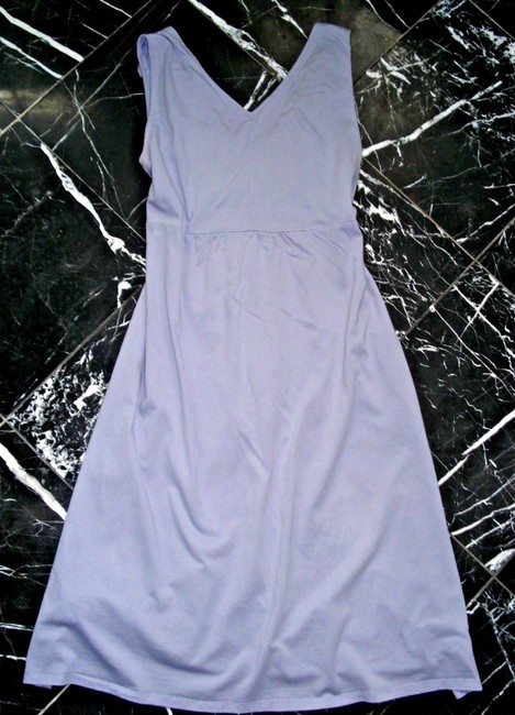 Garnet Hill short dress Bluish Lavender Jersey Knit Rosette Day Sundress Sleeveless on Tradesy Image 4