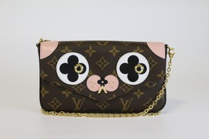 Louis Vuitton Felicie Dog Valentine Collection Dog Lv Dog Cross Body Bag