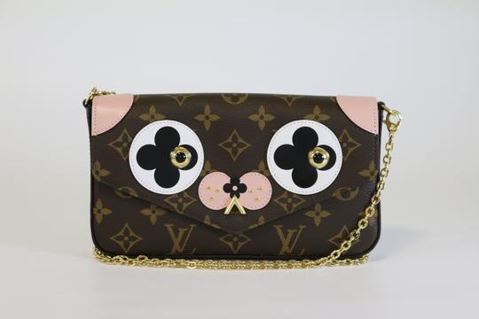 Louis Vuitton Felicie Dog Valentine Collection Dog Lv Dog Cross Body Bag Image 0