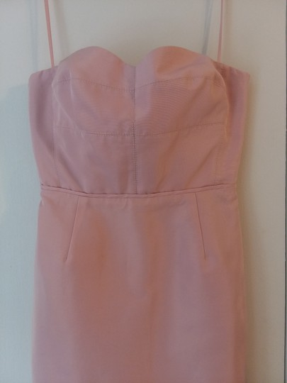 J.Crew Lavender Dust Cotton / Viscose Rory Strapless In Classic Faille B7677 Modern Bridesmaid/Mob Dress Size 00 (XXS) Image 1