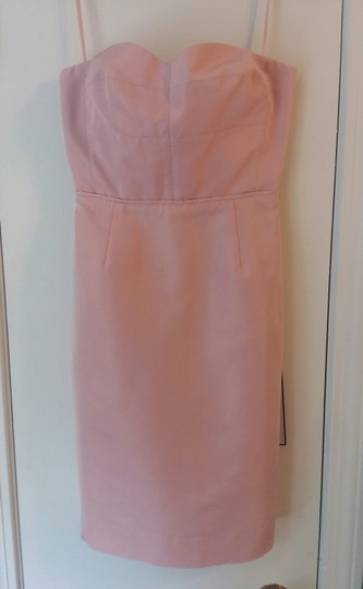 J.Crew Lavender Dust Cotton / Viscose Rory Strapless In Classic Faille B7677 Modern Bridesmaid/Mob Dress Size 00 (XXS) Image 5