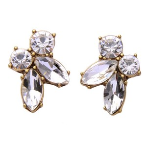 Kate Spade Gold & Crystal Cluster Stud Earrings