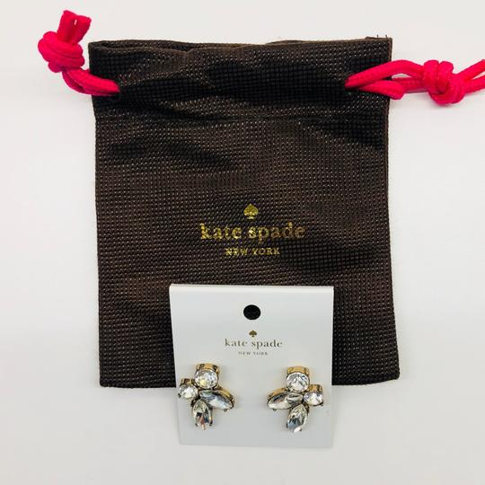 Kate Spade Gold & Crystal Cluster Stud Earrings Image 1