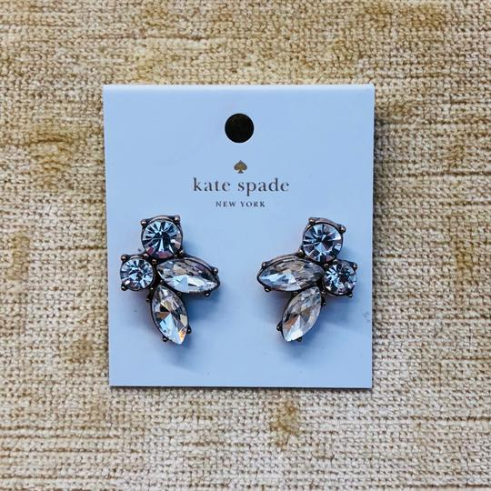 Kate Spade Gold & Crystal Cluster Stud Earrings Image 4