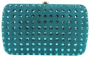 Gucci Broadway Suede Evening Turquoise 4460 Clutch