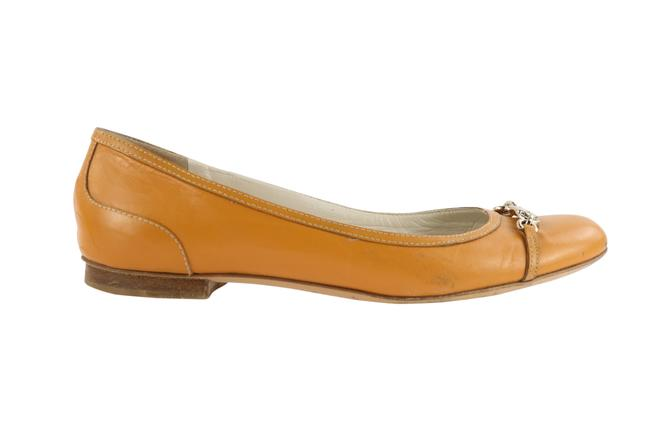 Item - Yellow Leather Ballet Flats Size EU 38 (Approx. US 8) Wide (C, D)