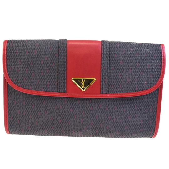 Preload https://img-static.tradesy.com/item/23444737/saint-laurent-yves-ysl-hand-red-gray-coating-canvas-leather-clutch-0-0-540-540.jpg