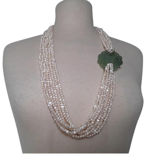Preload https://img-static.tradesy.com/item/23444883/white-fresh-water-pearls-carved-chinese-jade-multistrand-necklace-0-3-540-540.jpg