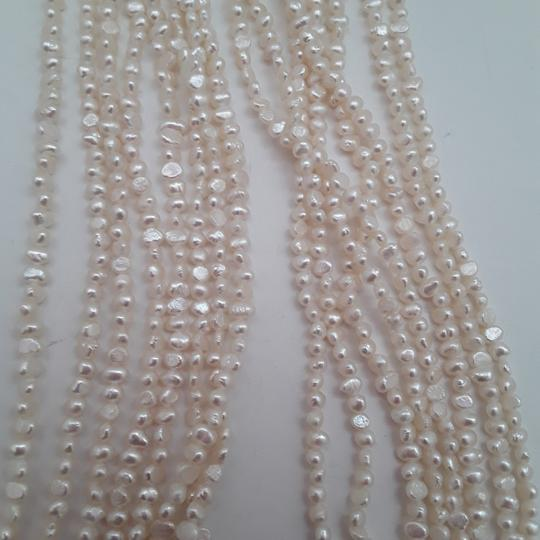 No label Fresh Water Pearls Carved Chinese Jade Multistrand Image 3