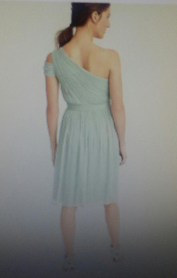 J Crew Graphite Silk Chiffon Cara In C8932 Modern Bridesmaid Mob Dress