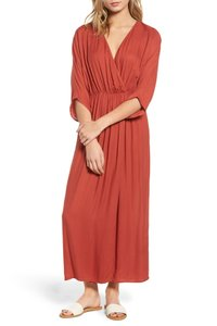 Rust Color Maxi Dress by Hinge